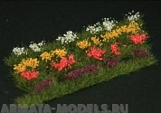 GL301 Strips of wild flowers, 4 different colours (red, violet, white, yellow)