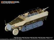 PE35263 Набор фототравления для 1/35 WWII German Sd.Kfz.251/1 Ausf.D Armoured Personnel Carrier Back seats & boxes (For DRAGON Kit)
