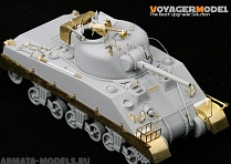PE35135 Набор фототравления для 1/35 WWII Skirts for M4A2 Pattern 1 (For DRAGON 6313)