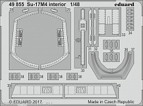 49855 Фототравление для Su-17M4  interior for Hobby Boss (Eduard)