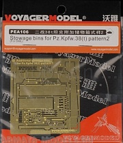 PEA106 Набор фототравления для 1/35 Stowage Bins for Pz.Kpfw.38(t) Pattern2 (For DRAGON 6290)