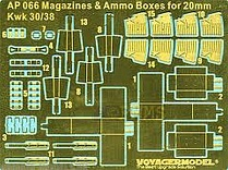 AP066 Набор фототравления 1/35 Magazines & Ammo Boxes for Kwk 30/38 (For All)