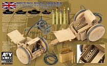 AF35264 1/35 WW2 British Rota trailer W/ 2 POUNDER AMMUNITION SET