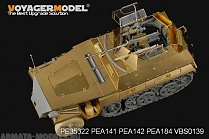 "PE35322 Набор фототравления для 1/35 WWII German Sd.Kfz.250/9 NEU ""RECON"" (For DRAGON 6425/6106) NEW"